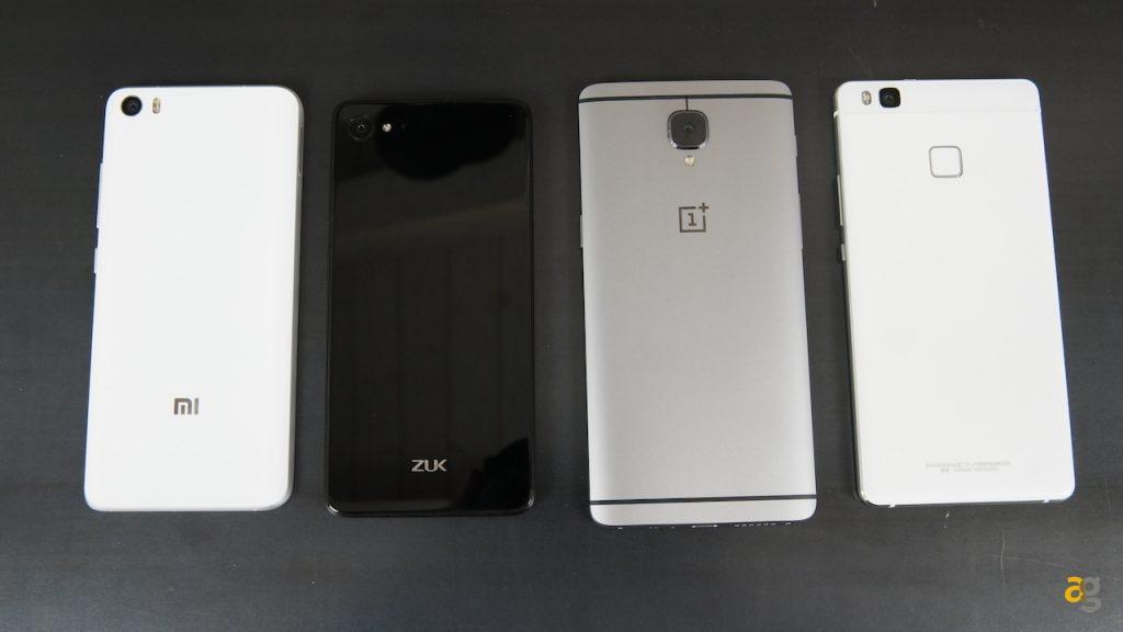 oneplus-3-vs-xiaomi-mi5-vs-huawei-p9-lite-vs-zuk-z2-il-confronto