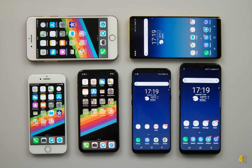 confronto-iphonex-galaxys8-note8