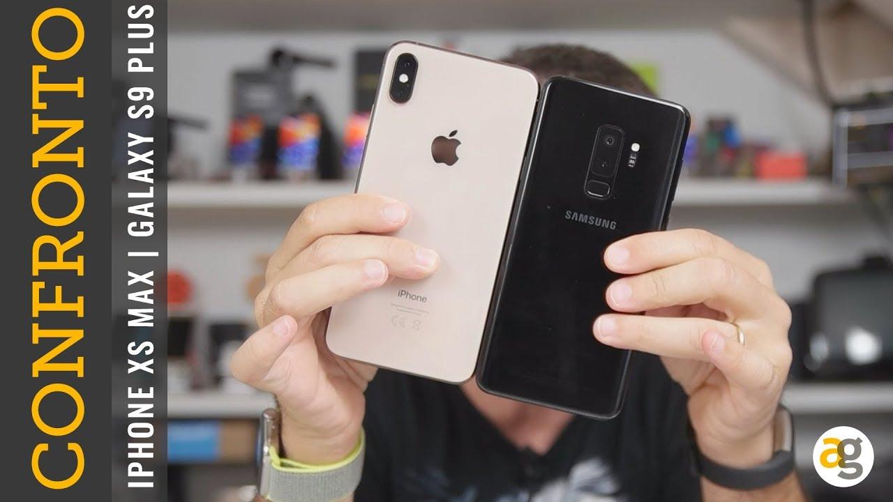 Confronto samsung s9 e iphone xs