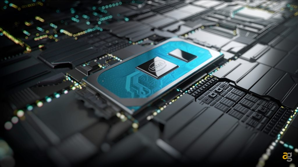 A photo shows the 10th Gen Intel Core processor on a motherboard. On Aug. 1, 2019, Intel launches 11 new, highly integrated 10th Gen Intel Core processors designed for remarkably sleek 2 in 1s and laptops. (Source: Intel Corporation)